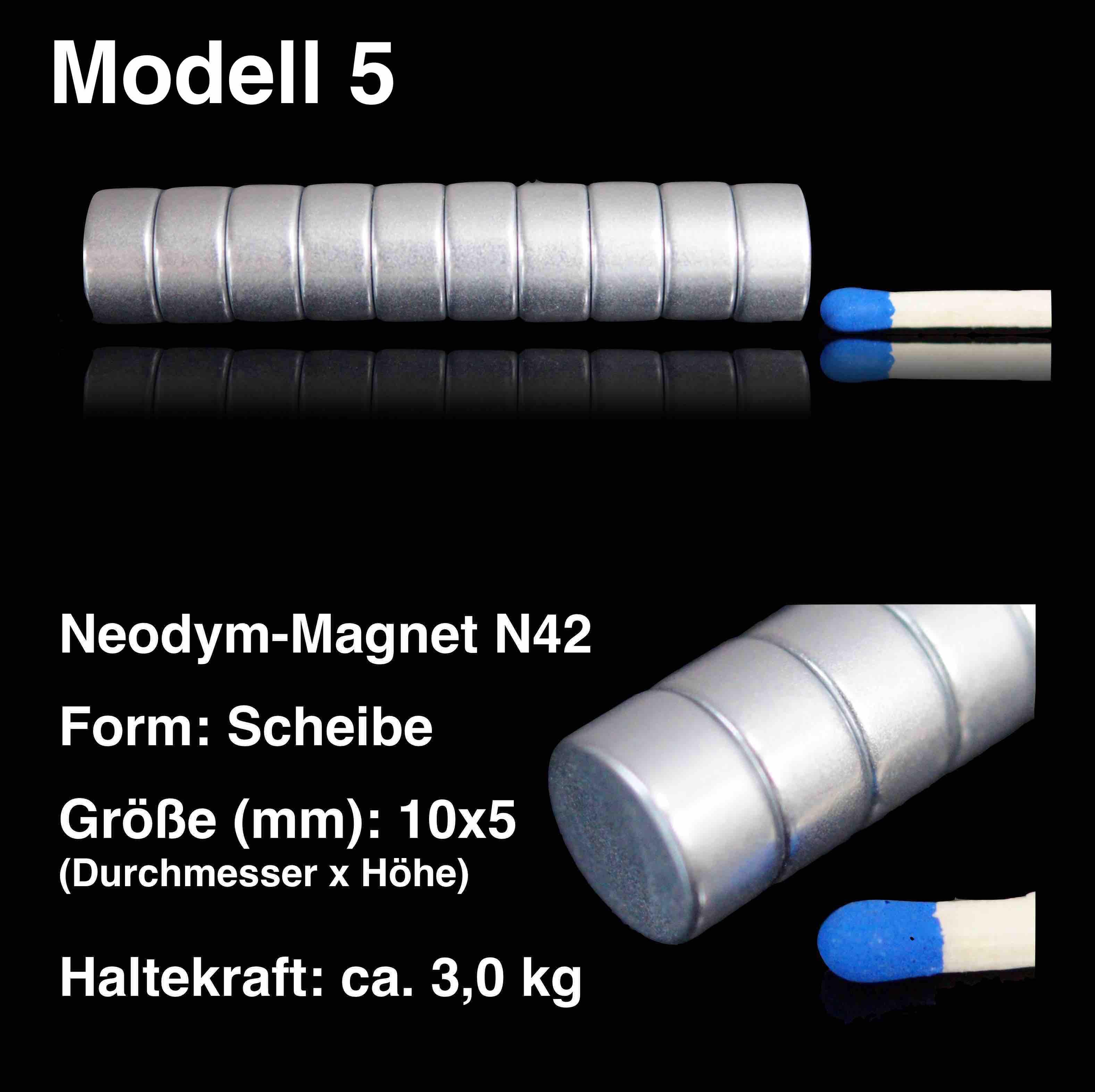 100x neodym magnete scheibe 10x5 mm n42 ndfeb magnet rund 10 x 5 mm ebay. Black Bedroom Furniture Sets. Home Design Ideas