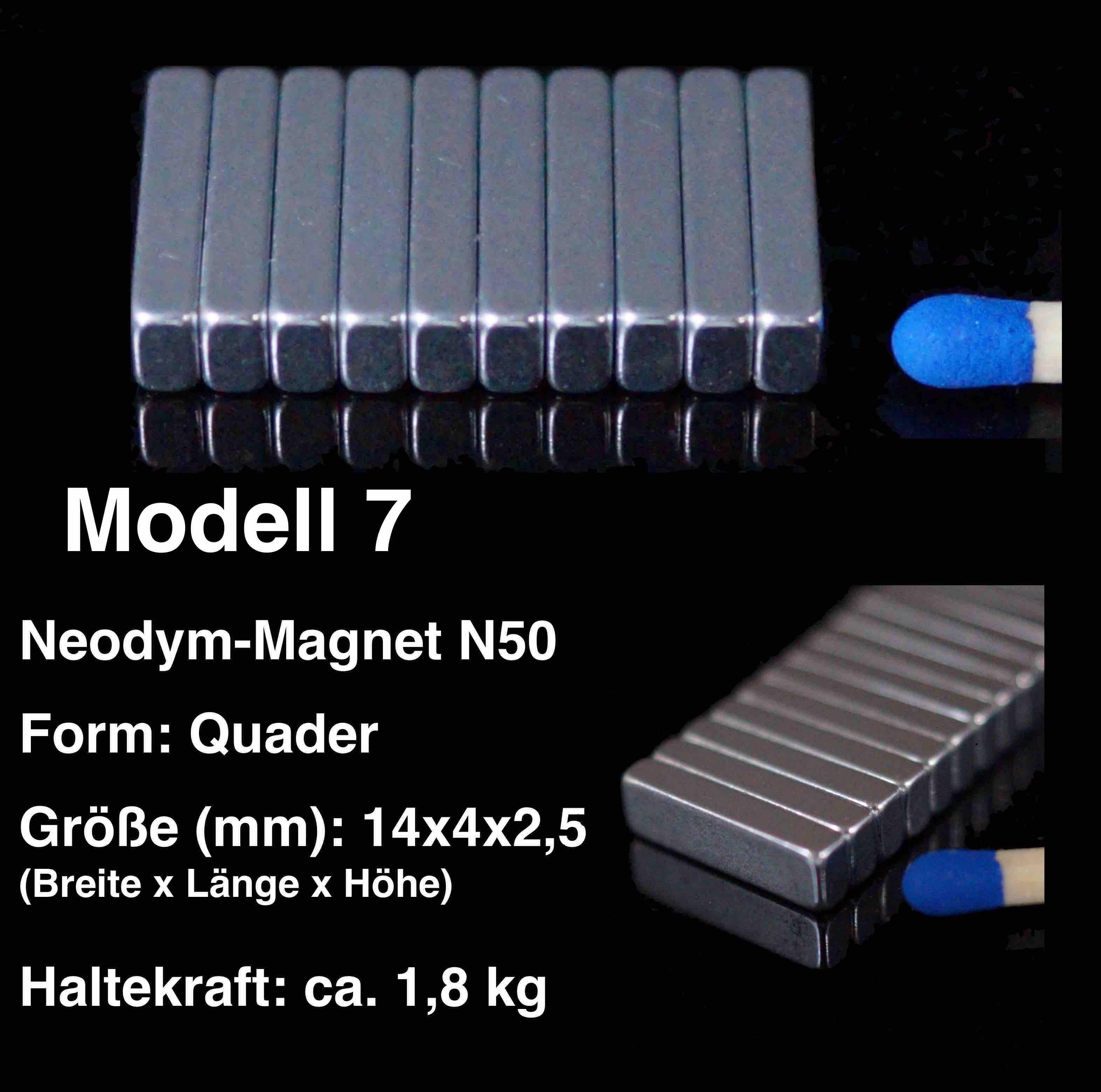 20x neodym magnete quader 14x4x2 5 mm n50 ndfeb magnet 14 x 4 x 2 5 mm ebay. Black Bedroom Furniture Sets. Home Design Ideas