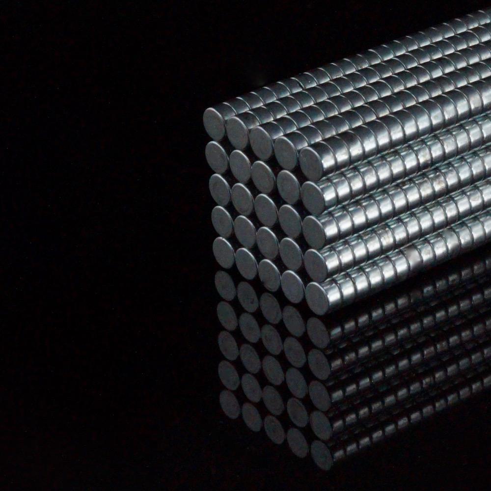 100x Neodym Scheiben Magnete Ø4 x 2 mm N45 420g Haftkraft NdFeB D4x2 mm rund